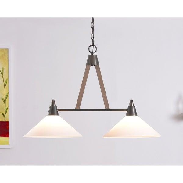Apex Aged Metal/Light Wood 2 Light Island Light