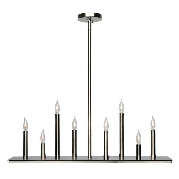 Design Craft Lumiere Brushed Steel 8-Light Island