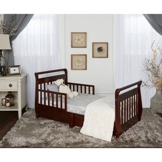 Dream On Me Espresso Wood Toddler Sleigh Bed With Storage Drawer