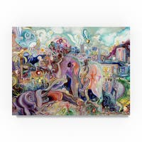 Josh Byer 'Walking with Elephants' Canvas Art