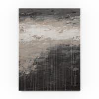 Hilary Winfield 'Lithosphere Gray Paint' Canvas Art