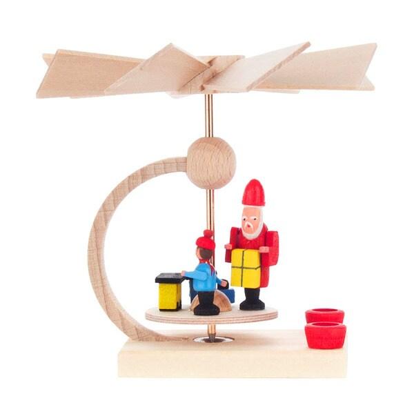 """Alexander Taron Dregeno Mini Pyramid - Santa with Gifts - 3""""H x 3.25""""W x 3.25""""D"""