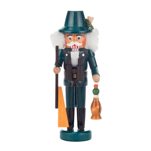 "Alexander Taron Dregeno Mini Nutcracker - Hunter - 5.25""H x 2""W x 1.75""D"