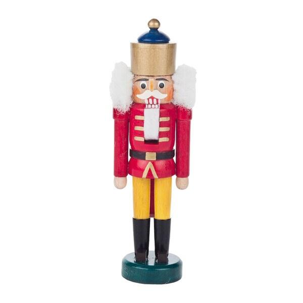 "Alexander Taron Dregeno Mini Nutcracker - Red King - 5.5""H x 1.75""W x 1.25""D"