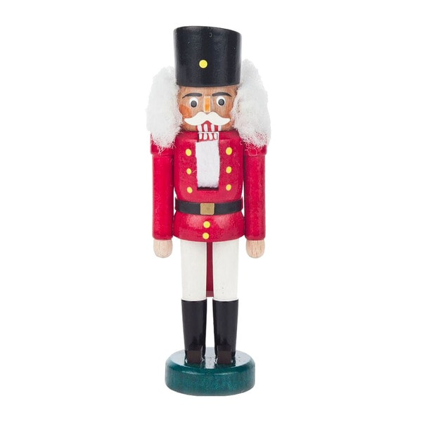 "Alexander Taron Dregeno Mini Nutcracker - Red soldier - 5.25""H x 1.75""W x 1.25"""