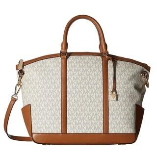 Michael Kors Beckett Large Top-Zip Vanilla Satchel Bag