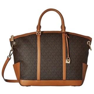 Michael Kors Beckett Large Top-Zip Brown Satchel Bag