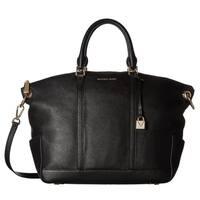 Michael Kors Beckett Large Top-Zip Black Satchel Bag