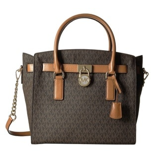 Michael Kors Hamilton Large East/West Brown Satchel Bag
