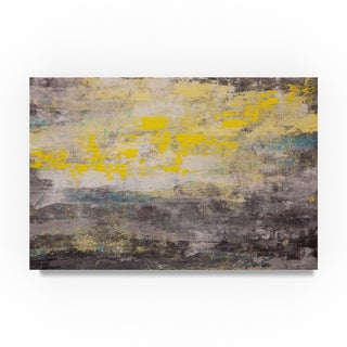 Hilary Winfield 'Lithosphere Yellow Gray' Canvas Art