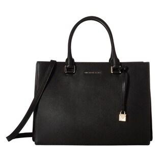 Michael Kors Sutton Medium Gusset Black Satchel Bag