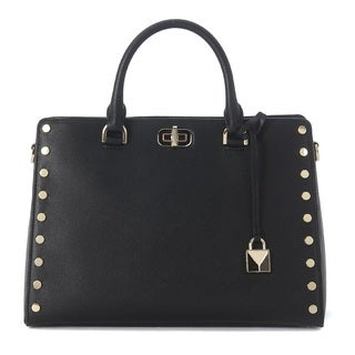 Michael Kors Sylvie Studded Large Black Satchel Bag