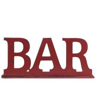 Utc45306 Wood Alphabet Tabletop Decor Letter Bar On Rectangular Stand Coated