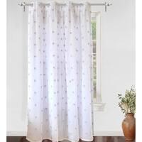 DriftAway Ellie White Voile Sheer & Blackout Curtain Liner Panel