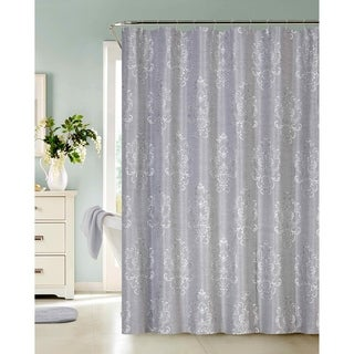 Dainty Home Bella Faux Embroidery Fabric Shower Curtain
