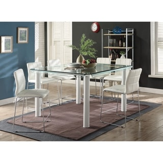 Link to ACME Gordias Glass Counter Height Table in White Similar Items in Dining Room & Bar Furniture