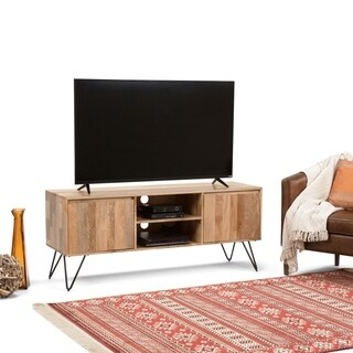 Wyndenhall Moreno Natural Wood/Metal TV Media Stand for TVs Up to 66 Inches