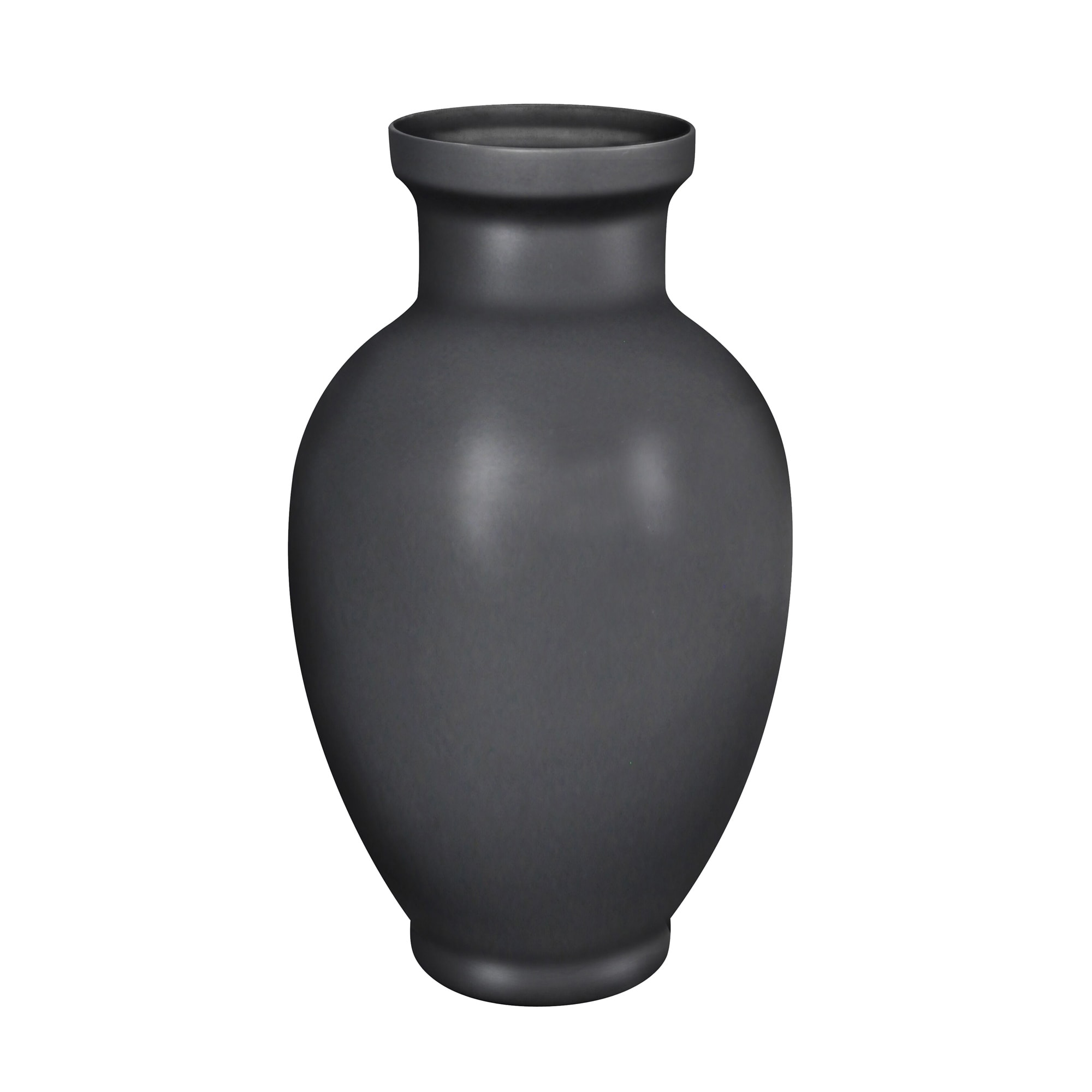 DECORATIVE CERAMIC VASE, MATTE BLACK (11.5x 11.5 x19.5,BLACK)