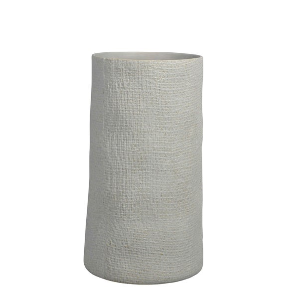 Shop Ceramic Column Vase Ivory Free Shipping Today Overstock