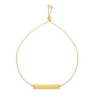 Karat Rushs Yellow 9.25-inch 14kt Gold Adjustable Friendship Bracelet