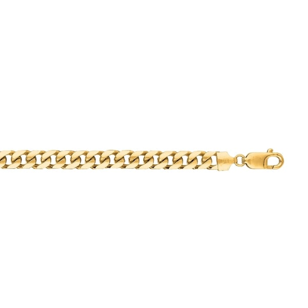 91efda282 Shop Karat Rushs Yellow 8.5-inch 14kt Gold Oval Miami Cuban Bracelet - On  Sale - Free Shipping Today - Overstock - 19206996