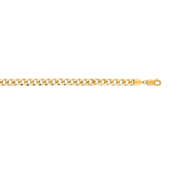c46f7288d Shop Karat Rushs 8.5-inch 14kt Gold Oval Miami Cuban Bracelet - On Sale - Free  Shipping Today - Overstock.com - 19207001