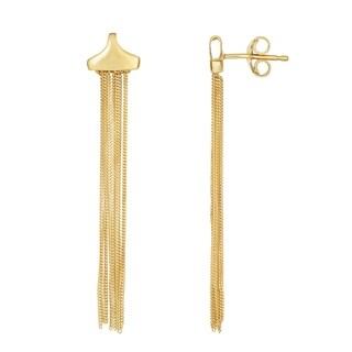 Karat Rushs Yellow 14kt Gold Diamond Cut Drop Earrings