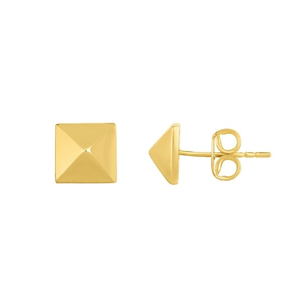 Karat Rushs Yellow 14kt Gold Pyramidal Post Earrings