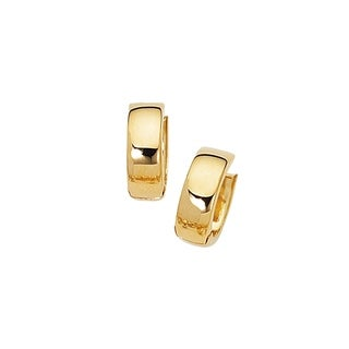 Karat Rushs 14kt Gold Tube Huggie Earrings