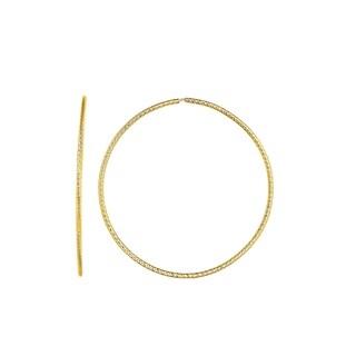 Karat Rushs Yellow 14kt Gold Round Tube Hoop Fancy Earrings