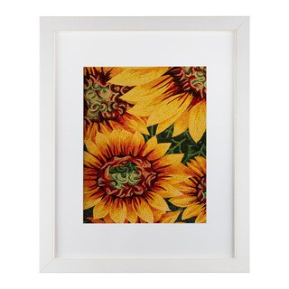 Moises Levy 'Art Flower' Matted Framed Art