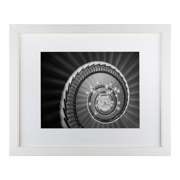 Moises Levy 'Staircase Lights' Matted Framed Art