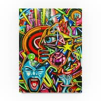Abstract Graffiti 'Eye' Canvas Art
