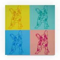 Abstract Graffiti 'French Bulldogs' Canvas Art