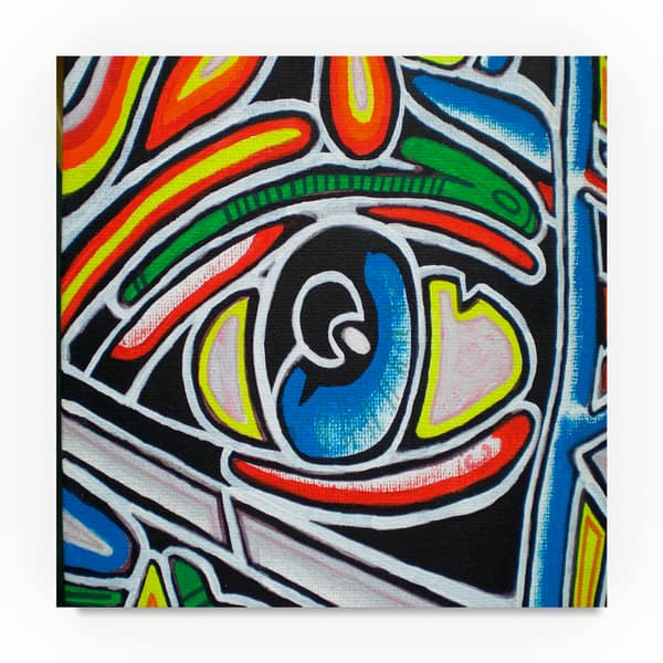 Abstract Graffiti Eye Close Up Canvas Art