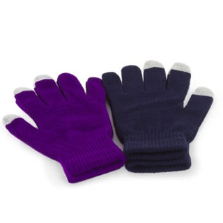 2 Pack Women's Texting Gloves Winter Knit Touch Screen Glove - iPhone Samsung (Option: Purple)
