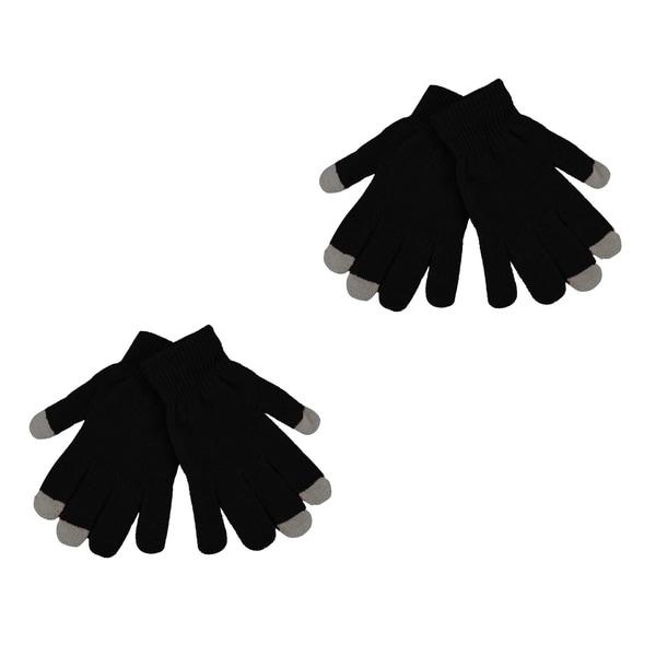 Agloves Sport Touchscreen Gloves: 2 Pack Men's Texting Gloves Winter Knit Touch Screen Glove