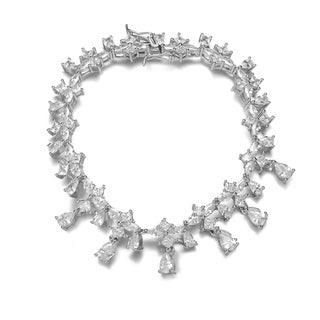 Collette Z Sterling Silver White Cubic Zirconia Accent Bracelet