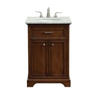24 in. Single Bathroom Vanity set in Teak