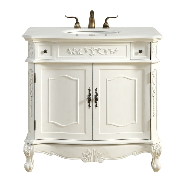 36 antique white bathroom vanity shop 36 in single bathroom vanity set in antique white 21811