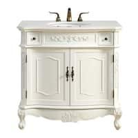 36 in. Single Bathroom Vanity set in Antique White