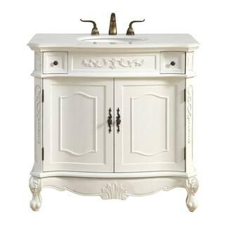 antique bathroom vanities. Single Bathroom Vanity set in Antique White Vanities  Cabinets For Less Overstock com