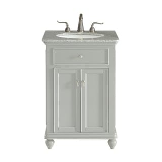 24 in. Single Bathroom Vanity set in Light Grey