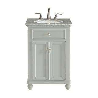 24 in. Single Bathroom Vanity set in Light Grey
