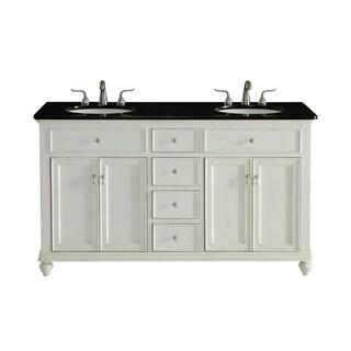 60 in. Double Bathroom Vanity set in Antique White