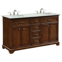 60 in. Double Bathroom Vanity set in Teak