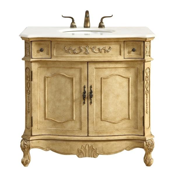 Vintage Bathroom Vanity Set: Shop 36 In. Single Bathroom Vanity Set In Antique Beige