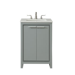 24 in. Single Bathroom Vanity set in Grey