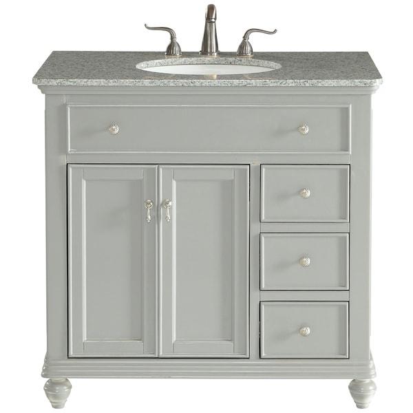 Shop 36 in. Single Bathroom Vanity set in Light Grey ...