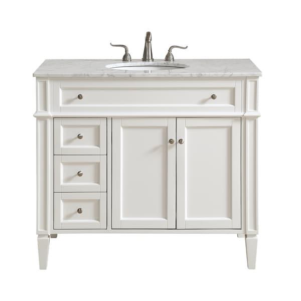 shop 40 in. single bathroom vanity set in white